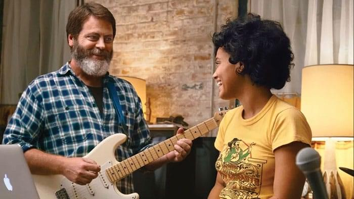 Nick Offerman's Heart Beats Loud With Kiersey Clemons image