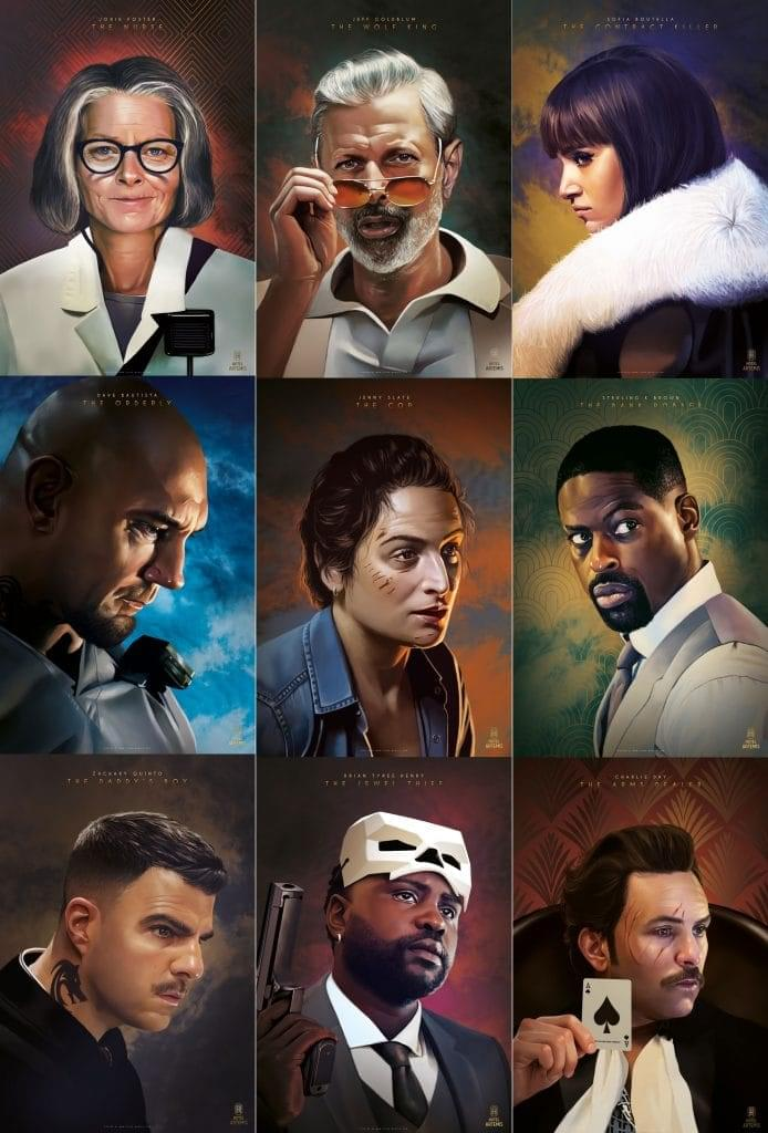 Hotel Artemis New Character Posters and Retro Trailer image