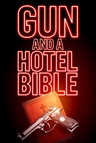 Gun and a Hotel Bible Image
